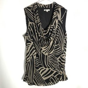 Dana Buchman Tribal Design Sleeveless Top Size XL